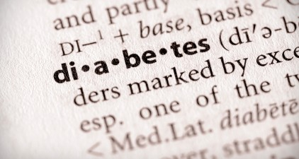 diabetes highlighted on a printed dictionary