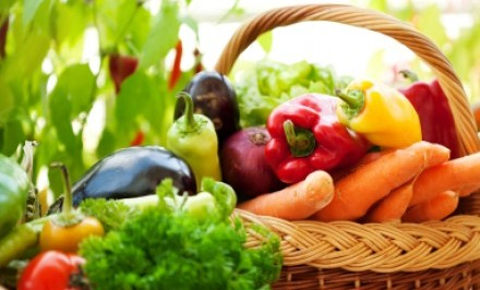 health food displayed in a basket